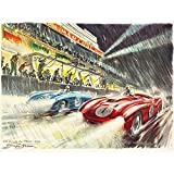 Wee Blue Coo Paintings Sport Motor Le Mans 24 Hour Race Car
