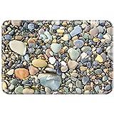 YISUMEI 20 x 32 Inch Carpets Floor Rug Indoor Outdoor Area Rugs Front Doormats Office Doormat Bathroom Mats Non Slip Backing Pebble Stone Pattern