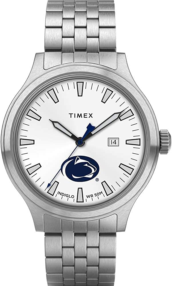 Timex Men's Penn State University Limited time for free shipping Top Watch Stainless Steel Bras Houston Mall