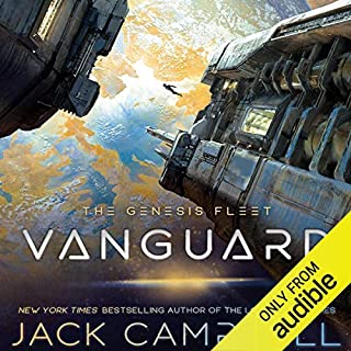 Vanguard     The Genesis Fleet, Book 1              By:                                                                                                                                 Jack Campbell                               Narrated by:                                                                                                                                 Christian Rummel                      Length: 9 hrs and 27 mins     425 ratings     Overall 4.4