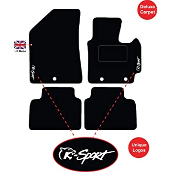 Black Edging Tailored//Compatible to Fit Kia Sportage From 2016 Onwards Front /& Rear with Heel Pad Lusso Carpet Floor Mats for Car 4-Piece Set with K-Sport Logos /& 3 Clips
