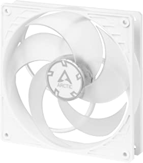 ARCTIC P14 PWM - 140 mm Case Fan with PWM, Pressure-optimised, Quiet Motor, Computer, Fan Speed: 200-1700 RPM - White/Tran...