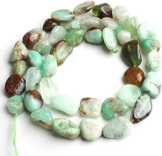 Love Beads Natural Irregular Australian Chrysoprase 8-10mm Beads for Jewelry Making 15inches Gemstone Beads