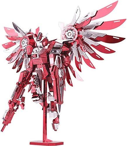 MQKZ Ouragan Holy Wing Jusqu'à Trois DiPour des hommesions en métal créatif Jouets Faits à la Main assemblé Assemblage Puzzle Puzzle Cool modèle Jouets Rouge + Outil Taille Unique