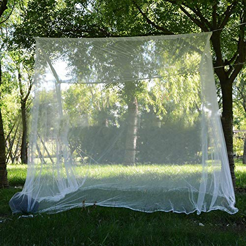 Voyoo Mosquito Net for Bed Canopy Curtains Patio Netting Camping Tent Bug Even Naturals -Oversized Mosquito Net with Bag Large Opening Portable -Mesh Camping Bedding Garden Insect -Proof Net