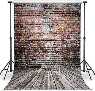 LB Stone Brick Wall Backdrop for Photography 6x6ft Rustic Photo Background Studio Prop Vinyl Customized QD112