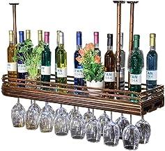 HTTJJ Ceiling Wine Racks   Hanging Wine Glasses Stand   Red Wine Cup Holder   Bottle Rack   Glass Frame   Vintage Style De...