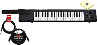 $299 Get Yamaha Sonogenic Keytar 37 Mini Keys Electronic Keyboard MIDI Controller with Yamaha Chord Tracker app and Bluetooth MIDI Wireless iOS Connectivity Bundle with Cables & Zorro Keyboard Cloth - Black