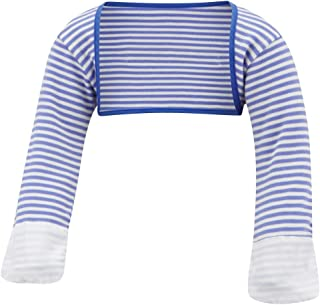| Baby Boys' Stay-On Scratch Mitts Stripes