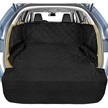 Ondoing Dog Car Seat Cover Waterproof Scratch Proof Nonslip Back Seat Car Boot Protector Cover Hammock for Cars Trucks SUVs with Side Flaps Washable Black