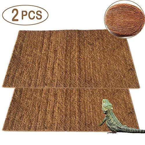 PIVBY Coconut Fiber Lizard Mat Natural Reptile Carpet Pet Terrarium Liner for Lizard Snake Chamelon Turtle Bedding Bunny Rabbit