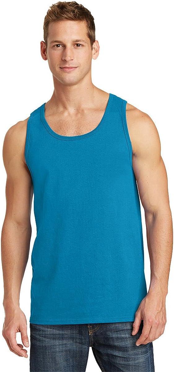 Port Company free Mens 5.4-oz 100% Cotton Blu Tank Top -Neon Chicago Mall PC54TT