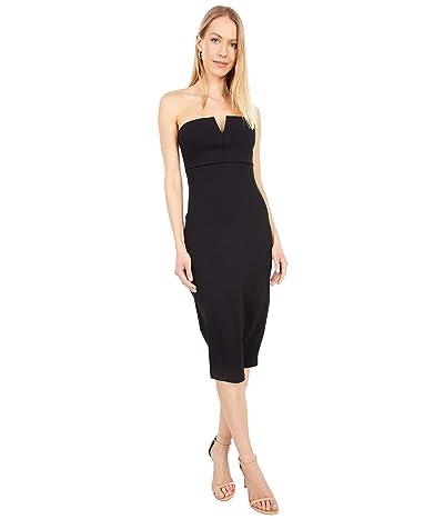 Susana Monaco V-Wire Tube Midi Dress (Black) Women