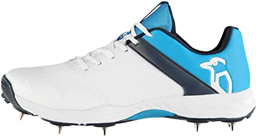 Official Brand Kookaburra Rampage 500 Chaussures Chaussures Chaussures de Cricket Hommes Blanches Bleu Pointes Chaussures paniers - Blanc, 27 d8d
