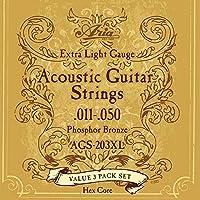 【3セットパック】 ARIA アリア アコースティックギター弦 AGS-203XL 〔np〕
