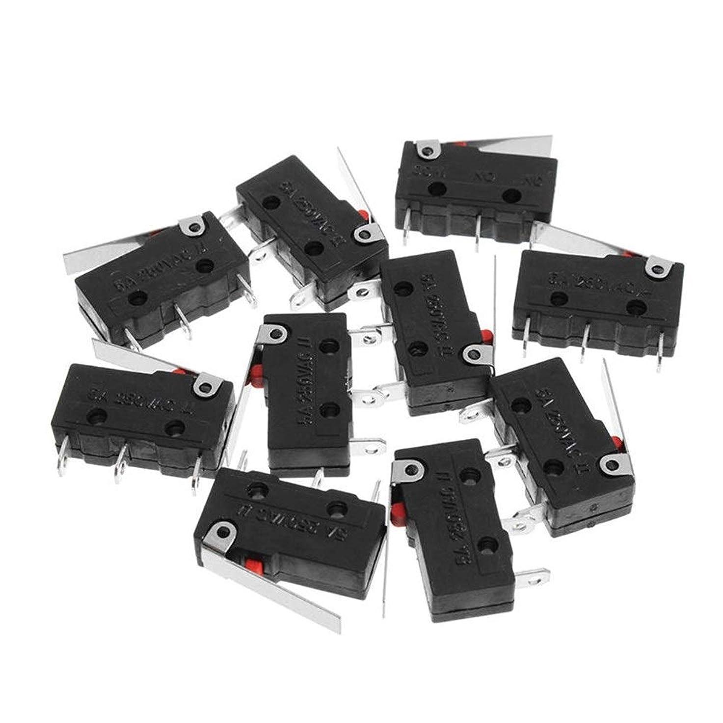 疑い者脆い晩ごはん5A 250V 10個入り3ピンタクトは、機密性の高いマイクロスイッチマイクロはハンドルKW11-3Zリミットスイッチを切り替えるスイッチ スイッチとソケット