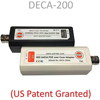 POE-Over-Coax Adapter Kit (DECA-200) - Twin Pack - by PAIRTEK