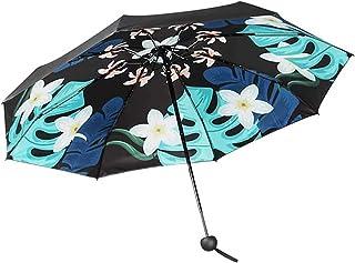 Adesign Parapluie Pliante de Voyage, 8 Nervures Parapluie Ergonomique poignée Auto Ouverte et Fermeture, Parapluie Portabl...