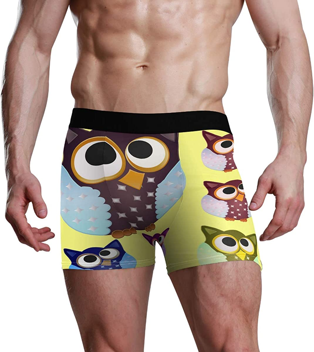 Mens Underwear Briefs Set of Six Brown Owl Breathable Long Boxer Briefs Underwear Boys
