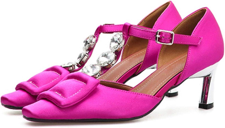 Gooding life High Heels shoes Women Buckle Strap Silk Women Pumps shoes Strange Heel Elegant Ladies shoes