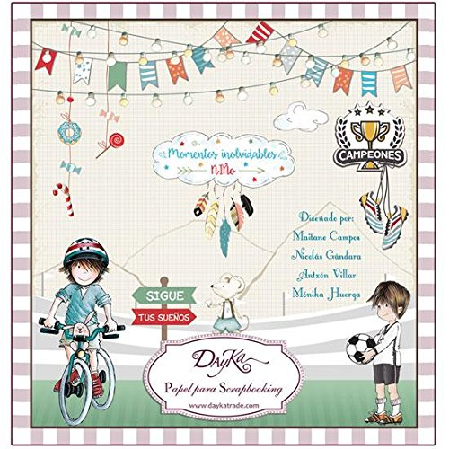Dayka Trade Kit Papel Scrap Dayka Momentos inolvidables niño