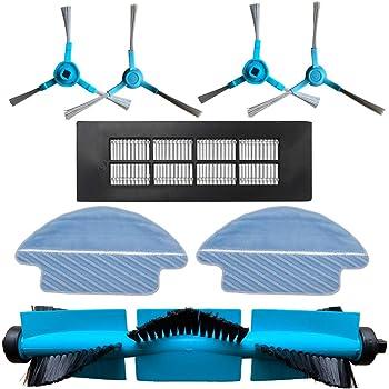 REYEE Pack de 8 Kit de Accesorios de Repuesto para Cecotec Conga 3090 Robot Aspiradora 1- Cepillo Principal & 1- Filtrar & 4- Cepillo Lateral & 2- Trapo de Limpieza: Amazon.es: Hogar