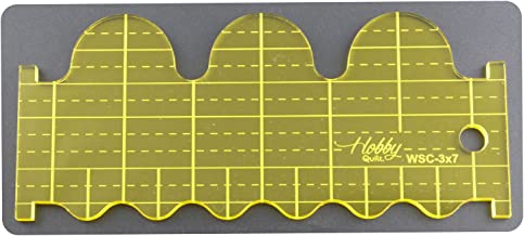 DREAMSTITCH 5mm Acrylic Patchwork Quilting Template Ruler Wave or Scallop (3″x7″) for Long Arm Sewing Machine and for Free Motion Presser Foot QT-WSC-3x7