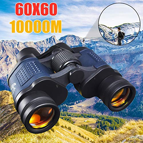 Yqs Fernglas Hohe Klarheit Teleskop 60X60 Binokel HD-10000M High Power for Outdoor-Jagd Optische Nachtsicht binokulare Zoom Fest (Color : Blue)