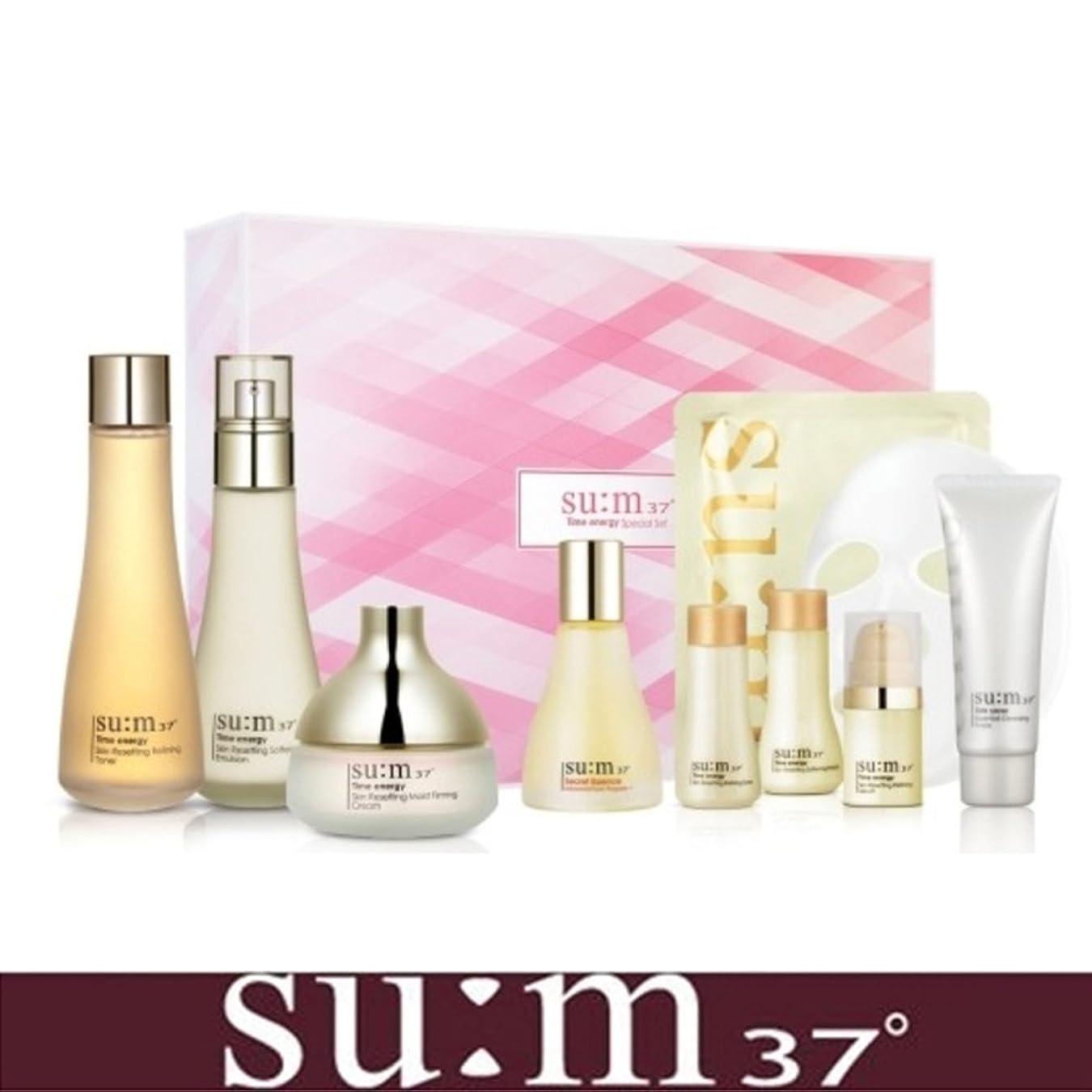サイズ船乗り部分的に[su:m37/スム37°] SUM37 Time Energy 3pcs Special Skincare Set / タイムエネルギーの3種のスペシャルセット+[Sample Gift](海外直送品)