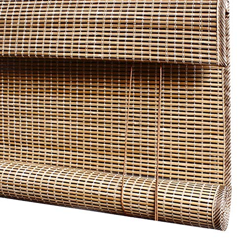 CAIJUN Bambusrollo Raffrollo Kantengestaltung Sonnenschutz Lichtfilterung Anti-UV Atmungsaktiv Balkonvorhang, 3 Stile, Benutzerdefinierte Größe (Farbe : C, größe : 90x200cm)