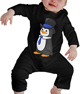 Penguin in Costume Unisex Long Sleeve Baby Gown Baby Bodysuit Unionsuit Footed Pajamas Romper Jumpsuit