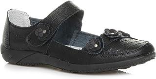 Ajvani Femmes Plat Babies Fleur Marche Confort Chaussures Cuir Pointure