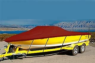 CRV-SBU 7 oz Solution Dyed Polyester Material Custom Exact FIT Boat Cover Sunbird Neptune 160 1996-1998