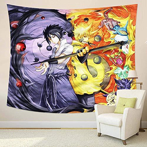 zaishuiyifang Tapiz De Pared Anime Naruto Tapiz Tapices para Colgar En La Pared Paño De Pared Decoración del Hogar Mantas De Pared Tiro De Playa A748 150X170Cm