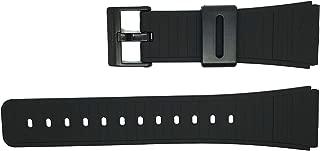 Casio 22mm Black Resin Black Buckle