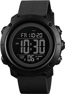 1426 Digital Movement Men Watch 5ATM Waterproof EL Backlight Outdoor Sports Wrist Watch Week Month 12/24-Hours Alarm Count...