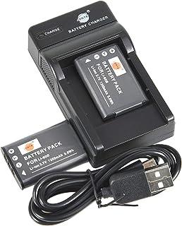 DSTE Li 60B Li Ionen Batterie (2 Pack) und Micro USB Ladegerät Anzug kompatibel mit Nikon Coolpix S550, Coolpix S560