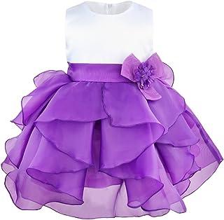 Mia formale per neonate Dress Abito da Battesimo Regalo Nozze Damigella D/'onore Rosa 3-24 M