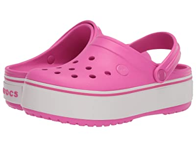 Crocs Kids Crocbandtm Platform Clog (Little Kid/Big Kid) (Electric Pink) Girl