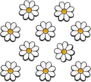 Joyci 10-Pack Women Brooch Lapel Pins Novelty Sunflower Daisy Safety Push Pin Buckle for Shirt Hat Cardigan Sweater Decorate Tie Tacks Pin Back Clutch