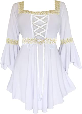 Dare to Wear Victorian Gothic Peasant Women's Plus Size Renaissance Corset Top