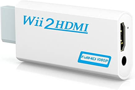 Ibeston Wii to HDMI Converter Output Video Audio Adapter - Supports All Wii Display Modes (NTSC 480I, 480P, PAL 576I) to 720P / 1080P HDTV & Monitor Best Compatibility and Stability