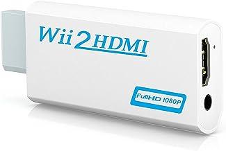 Wii a HDMI adaptador, gana Wii a HDMI convertidor conector con salida de vídeo de 1080p/720p y 3,5 mm Audio - Soporta todos los modos de visualización de Wii