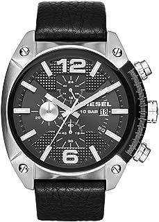 Diesel Men's DZ4341 Overflow Stainless Steel Black Leather Watch