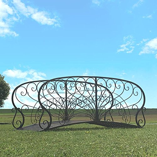 Chemin_de_Camp Große Gartenbrücke, Eisen, Metall, 250 cm