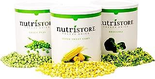 Nutristore Freeze Dried Vegetable Sample Pack 100 Serving | 1 Month Veggie Supply | Amazing Taste | Survival Food