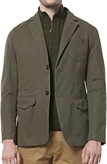 Men's Sport Coat Cotton Casual Slim Fit Elbow Patches Sports Jackets