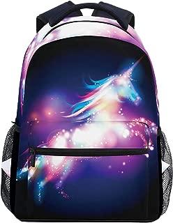 Wamika Galaxy Dab Unicorn Rainbow Stars Nebula Kids Backpack School Bookbags Daypack Bag