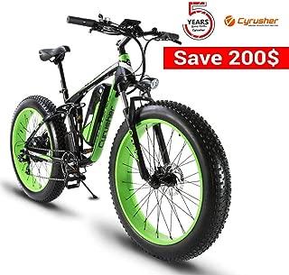 Cyrusher XF800 750w /1500W 48V Electric Fat Bike Full Suspension Hydraulic Brakes