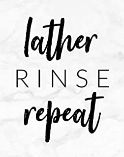Lather Rinse Repeat Bathroom Wall Art Decor Print - 11x14 unframed print